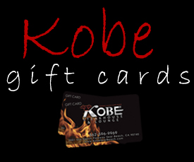Kobe Steakhouse & Lounge gift cards