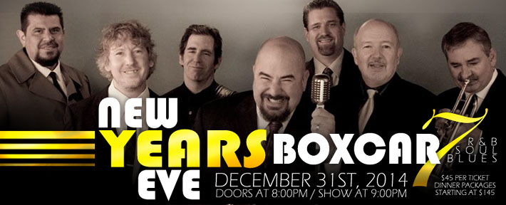 New Year's Eve with Boxcar 7 at Kobe Steakhouse in Seal Beach, CA